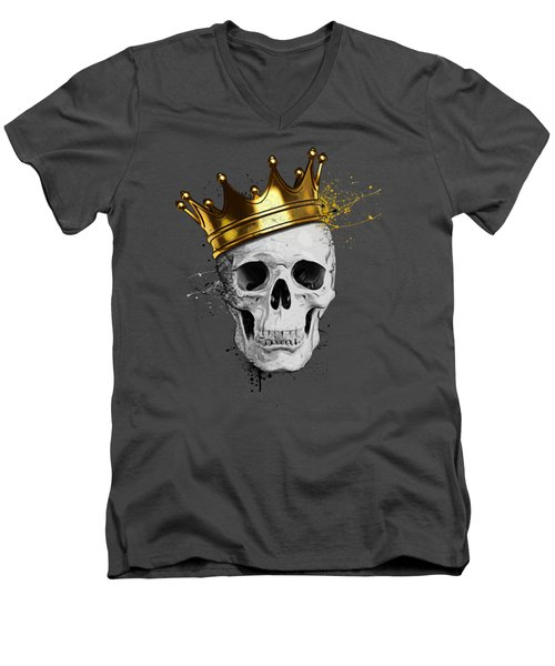 Royal Skull Men's V-Neck T-Shirt by Nicklas Gustafsson