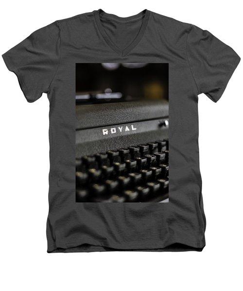 Royal Typewriter #19 Men's V-Neck T-Shirt
