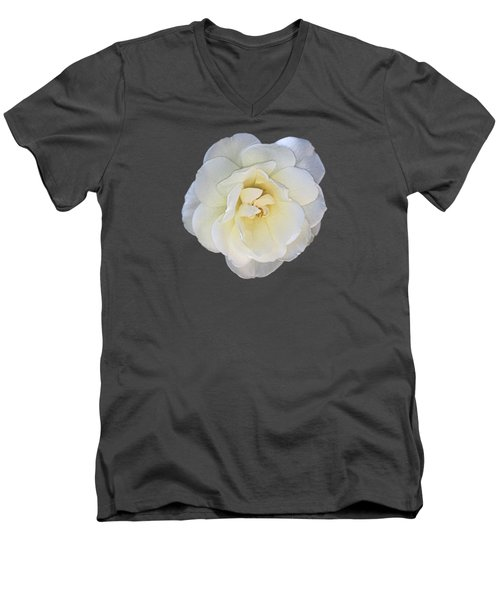 Royal White Rose Men's V-Neck T-Shirt
