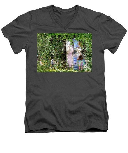 Ruach Ha-kodesh Men's V-Neck T-Shirt by Dolores Develde