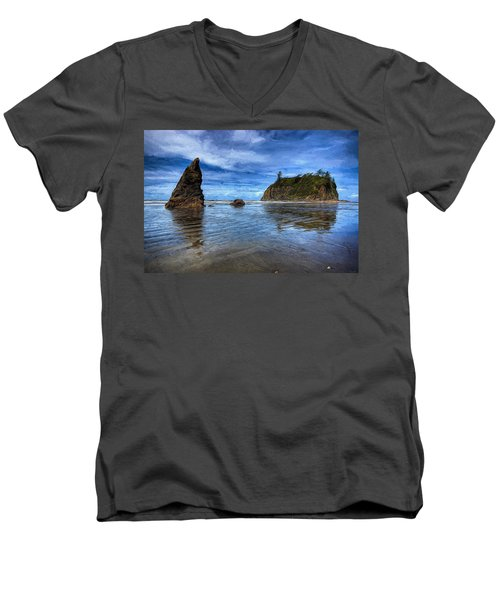 Ruby Beach Men's V-Neck T-Shirt