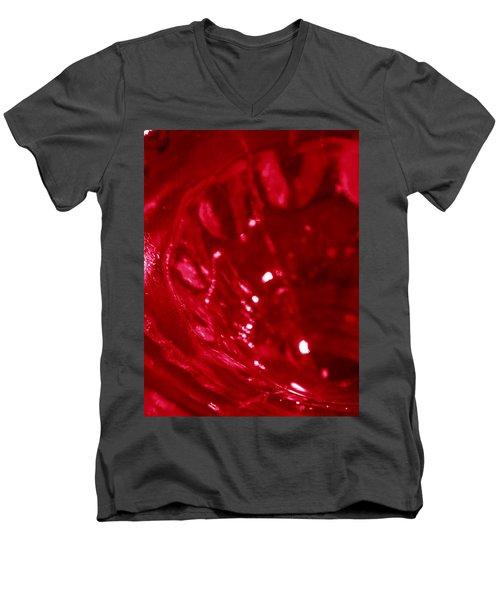 Ruby Glass Beauty Men's V-Neck T-Shirt by Samantha Thome