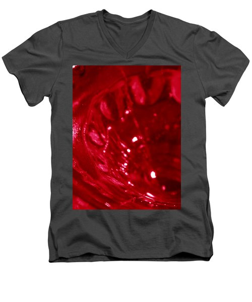 Ruby Glass Beauty Men's V-Neck T-Shirt