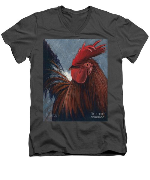 Rudy The Rooster Men's V-Neck T-Shirt
