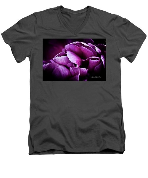 Ruffled Edge Tulips Men's V-Neck T-Shirt