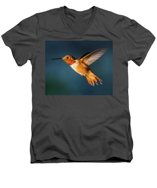 Rufous Men's V-Neck T-Shirt by Martina Thompson