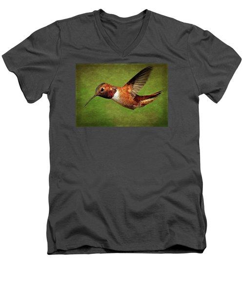 Rufous Portrait Men's V-Neck T-Shirt