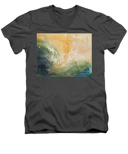 Rugged Coast Aerial View Men's V-Neck T-Shirt