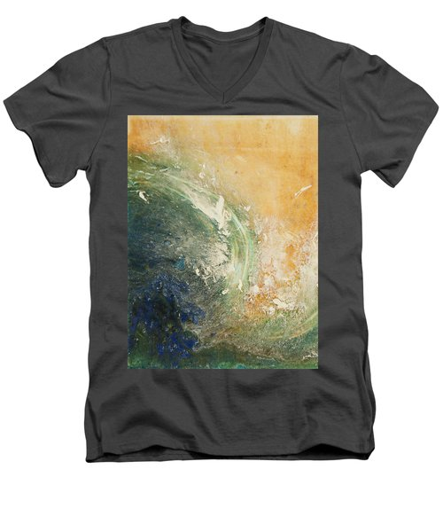Rugged Coast Aerial View Men's V-Neck T-Shirt