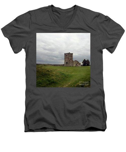 Ruin Men's V-Neck T-Shirt by Sebastian Mathews Szewczyk
