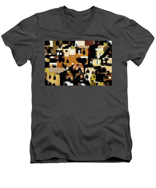 Ruins, An Abstract Men's V-Neck T-Shirt