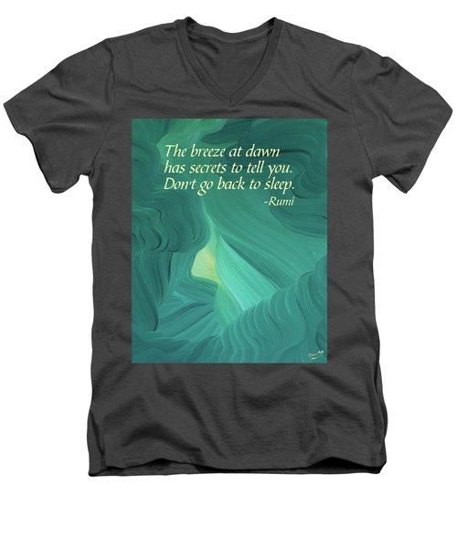 Rumi's Breeze At Dawn Men's V-Neck T-Shirt