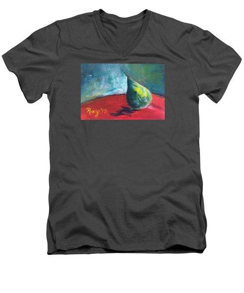 Runaway Pear Men's V-Neck T-Shirt by Roxy Rich