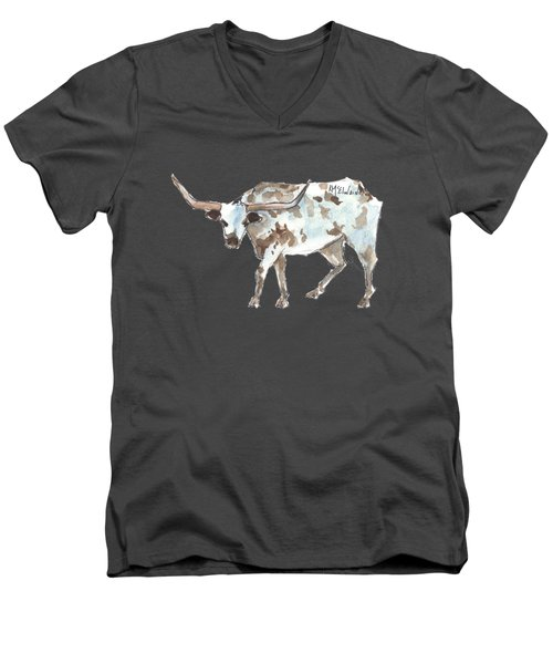 Running Back Texas Longhorn Lh070 Men's V-Neck T-Shirt