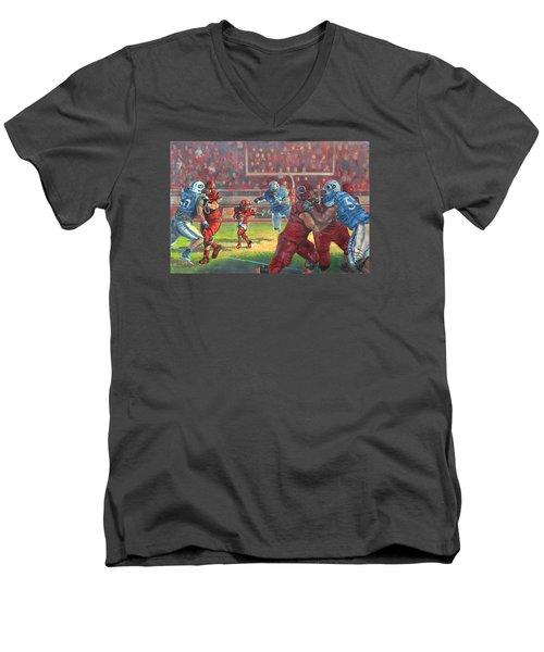 Running Courage Men's V-Neck T-Shirt