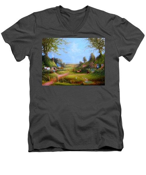 Running Late Men's V-Neck T-Shirt