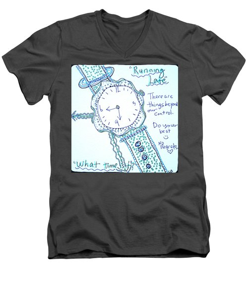 On Time Men's V-Neck T-Shirt