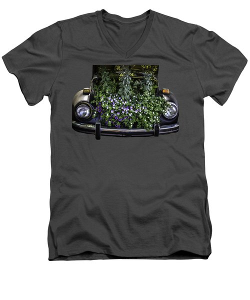 Running On Flowers Men's V-Neck T-Shirt