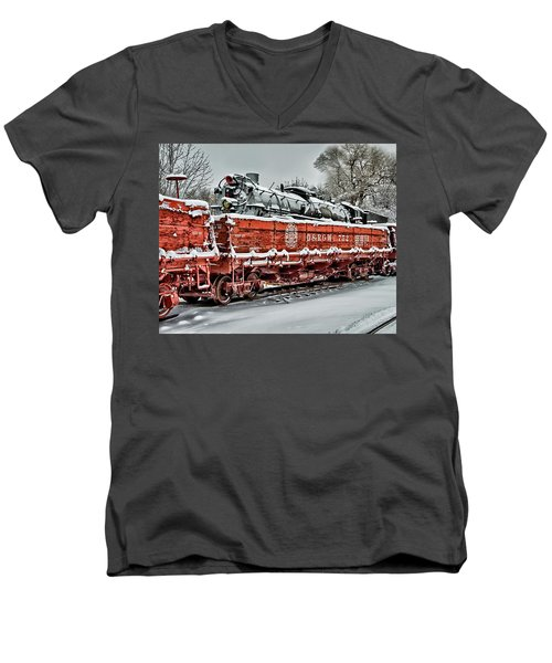 Running Out Of Steam Men's V-Neck T-Shirt