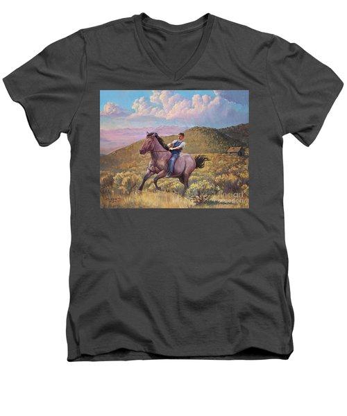 Runaway Roan Men's V-Neck T-Shirt