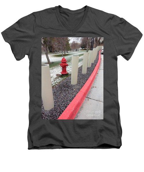 Running The Gauntlet Men's V-Neck T-Shirt