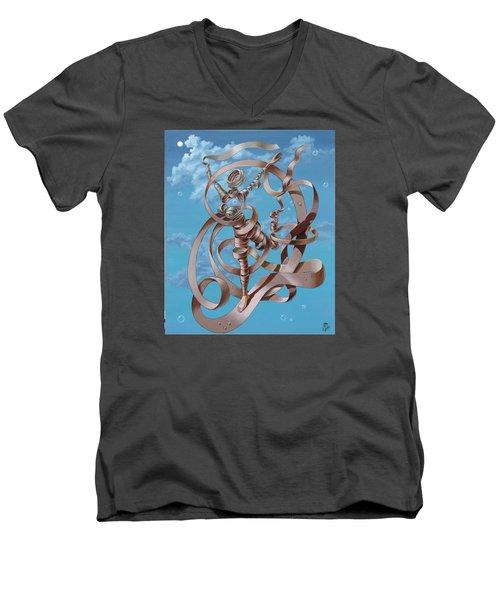 Running Men's V-Neck T-Shirt