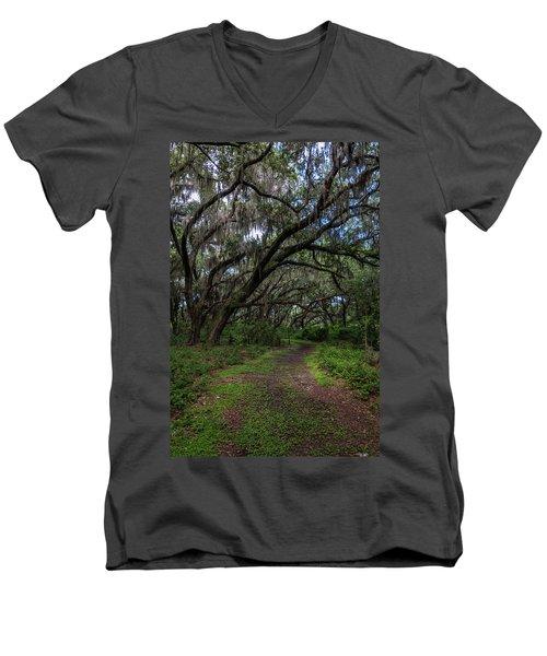 Runnymede Live Oaks Men's V-Neck T-Shirt