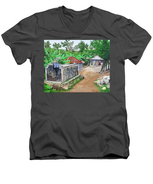 Rural Haiti - A Study In Poignancy Men's V-Neck T-Shirt