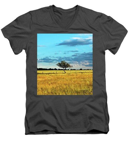 Rural Idyll Poetry Men's V-Neck T-Shirt