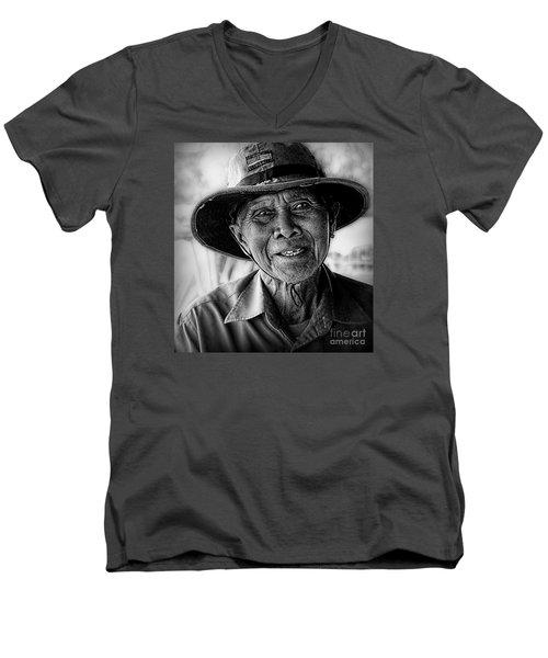 Rural Rice Farmer Men's V-Neck T-Shirt