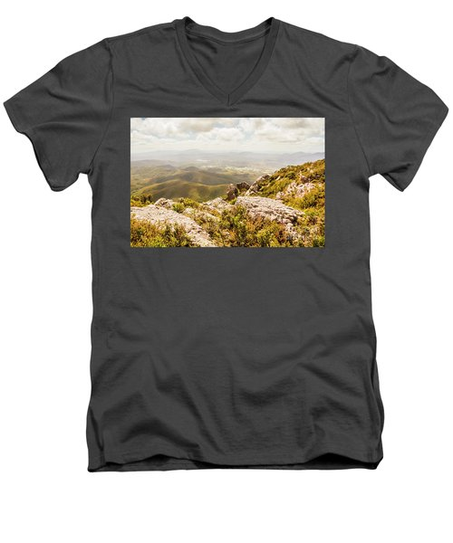 Rural Town Valley Men's V-Neck T-Shirt