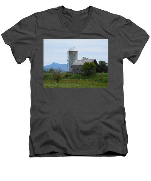 Rural Vermont Men's V-Neck T-Shirt by Catherine Gagne