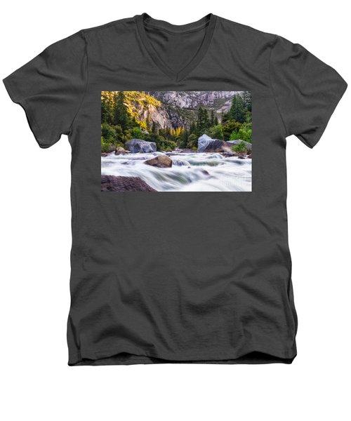 Rush Of The Merced Men's V-Neck T-Shirt