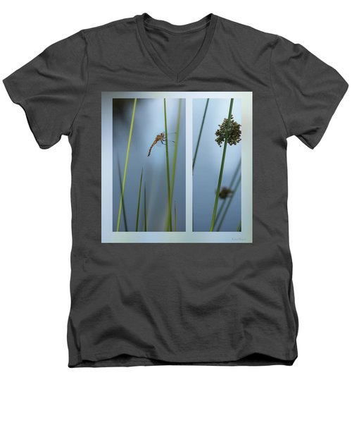 Rushes And Dragonfly Men's V-Neck T-Shirt