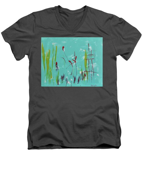 Rushes And Reeds Men's V-Neck T-Shirt