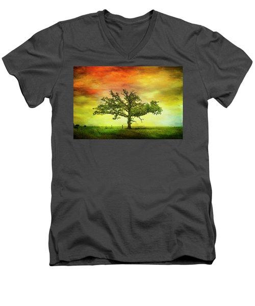 Rushford Tree On 43 Men's V-Neck T-Shirt