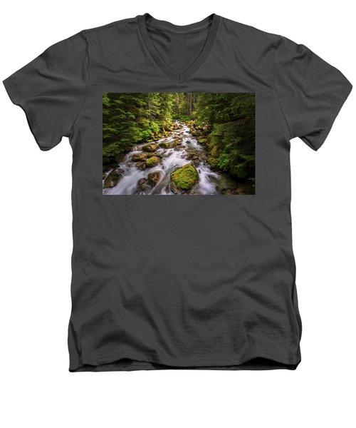 Rushing River Men's V-Neck T-Shirt