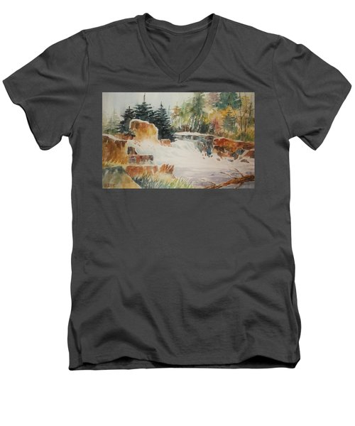 Rushing Streambed Men's V-Neck T-Shirt