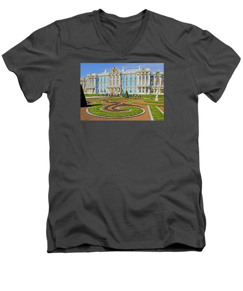 Russian Palace Men's V-Neck T-Shirt by Dennis Cox WorldViews