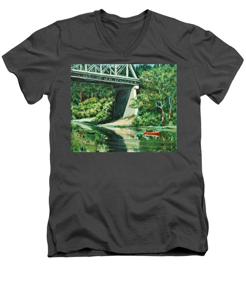 Russian River Men's V-Neck T-Shirt by Rick Nederlof