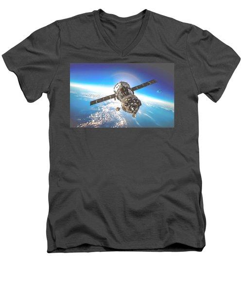 Majestic Blue Planet Earth Men's V-Neck T-Shirt