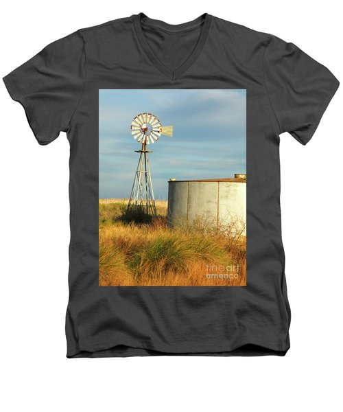 Rust Find Its Place Men's V-Neck T-Shirt