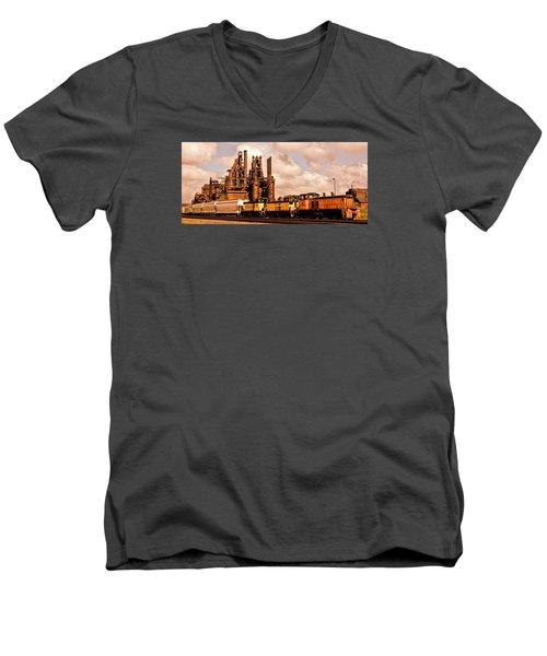 Rust In Peace Men's V-Neck T-Shirt by DJ Florek