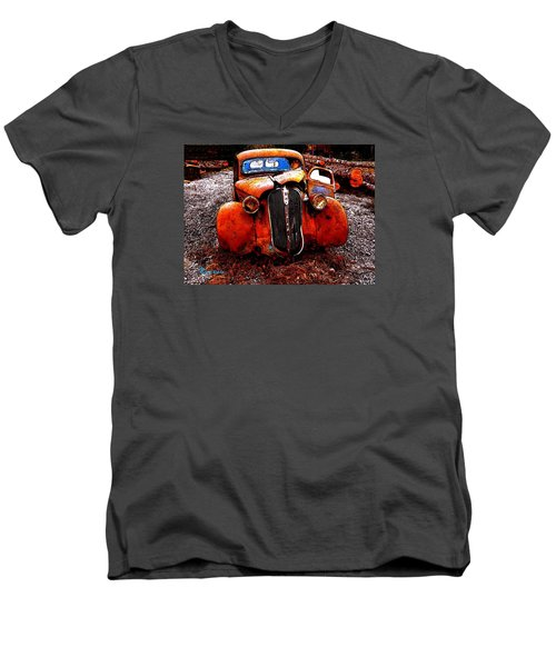 Rust In Peace Men's V-Neck T-Shirt by Sadie Reneau
