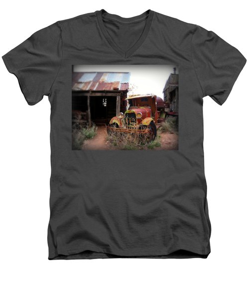Rusted Classic Men's V-Neck T-Shirt