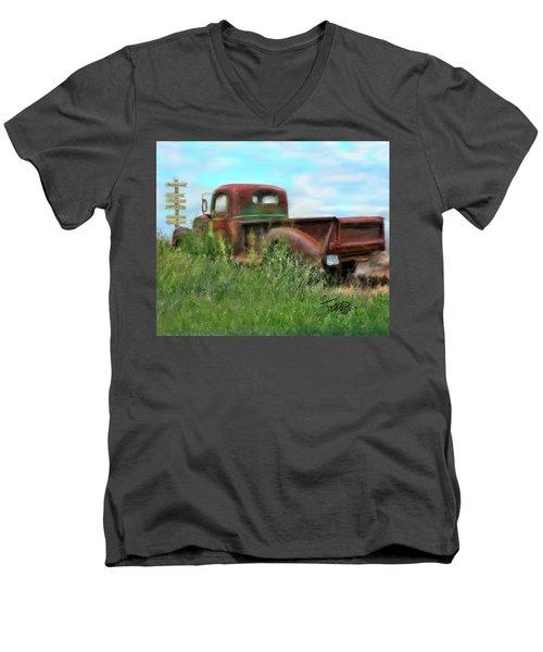 Rusted Not Retired Men's V-Neck T-Shirt