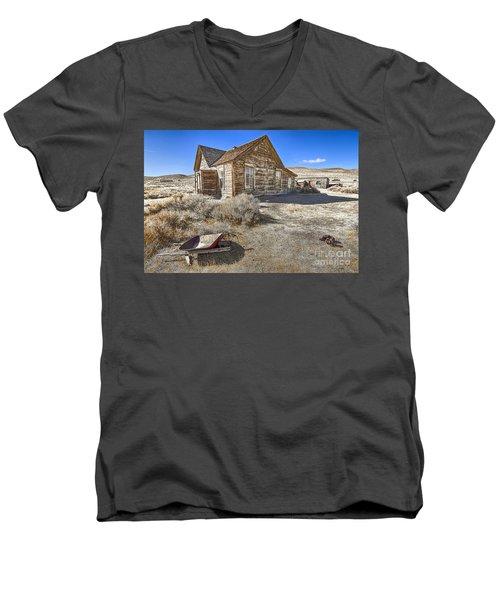 Rustic House Men's V-Neck T-Shirt by Jason Abando