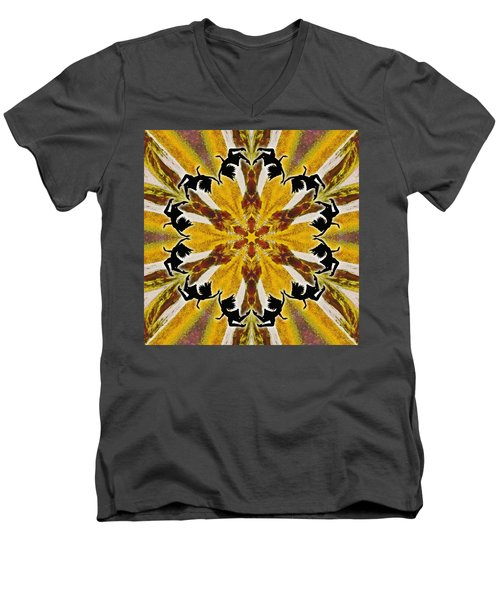 Men's V-Neck T-Shirt featuring the digital art Rustic Lifespring by Derek Gedney