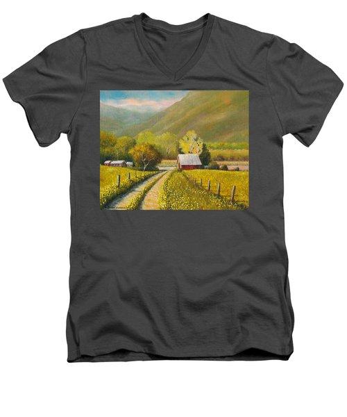 Rustic Road Men's V-Neck T-Shirt