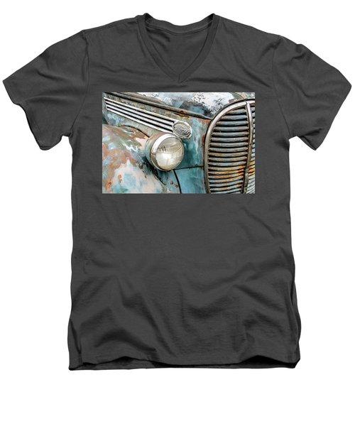 Rusty Ford 85 Truck Men's V-Neck T-Shirt by David Lawson